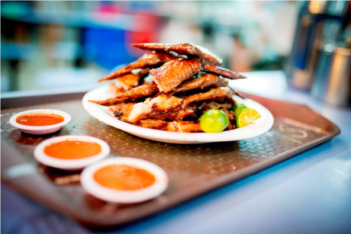 Hawker Center - Singapore - Chicken Wings