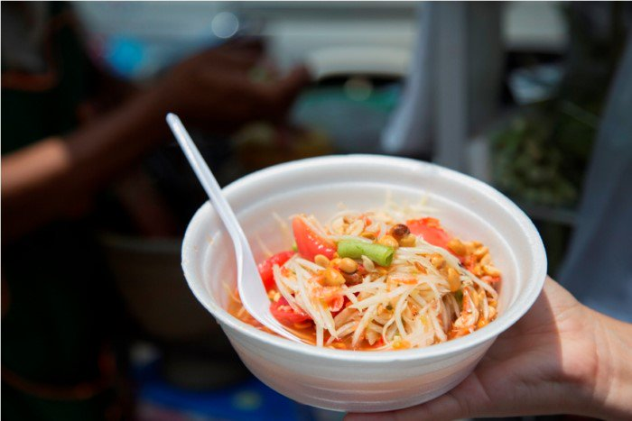 Som Tum Spicy Green Papaya Salad Thailand