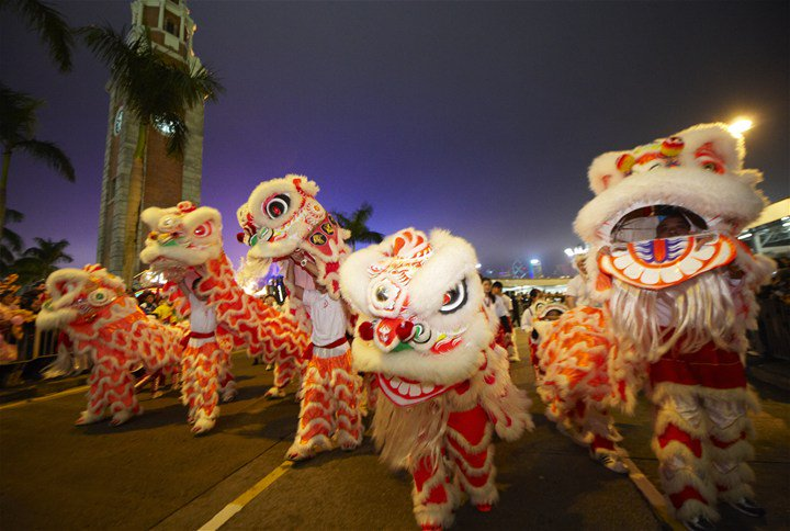 Dragon dances are a staple of Hong Kong's Lunar New Year festivities. While some are school troupes, there are plenty of professional troupes that perform during its biggest festivals.