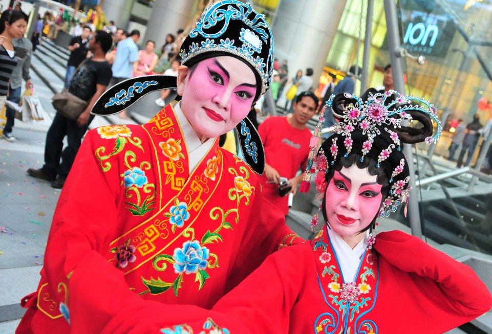 Traditional Chinese costumes are on full display for Singapore Chinese New Year celebrations. Photo credit: Singapore Tourism Board