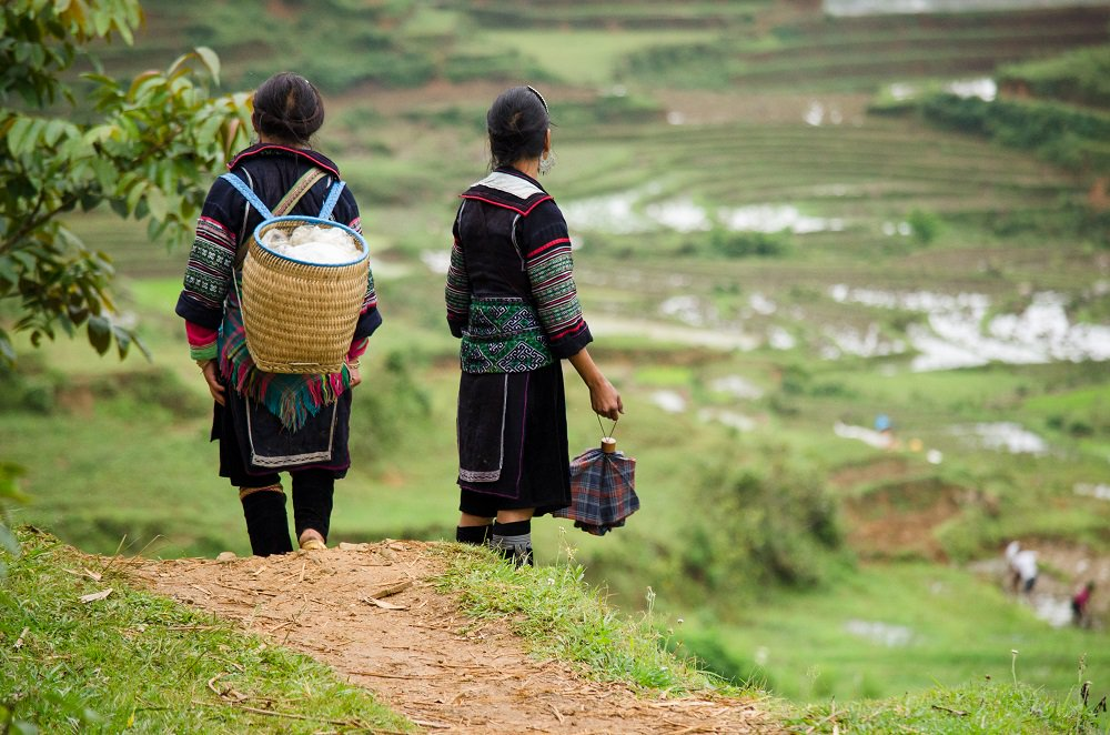 Two Hmong women