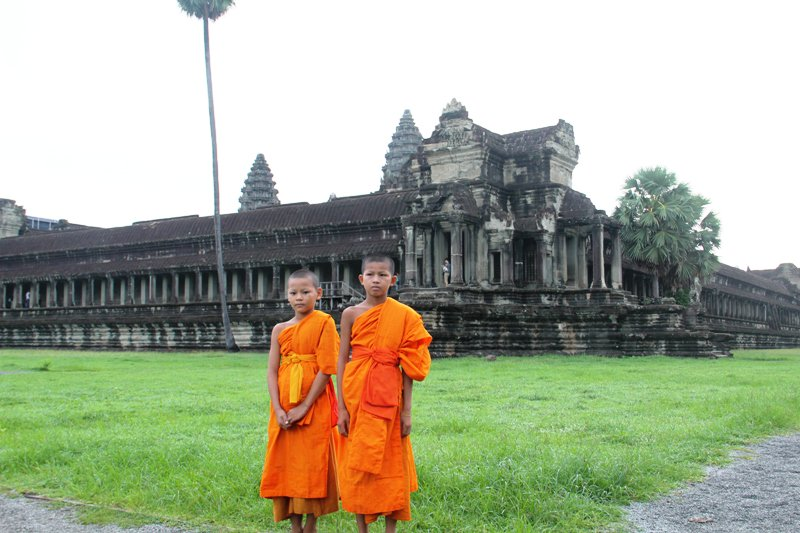 Angkor Wat - two young monks