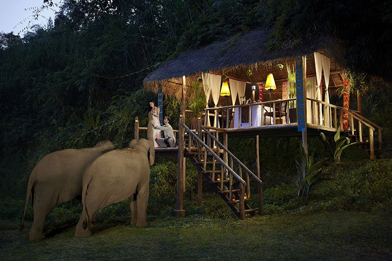 Malte Blas - Hotels for Couples in Asia - Anantara Dining with Elephants