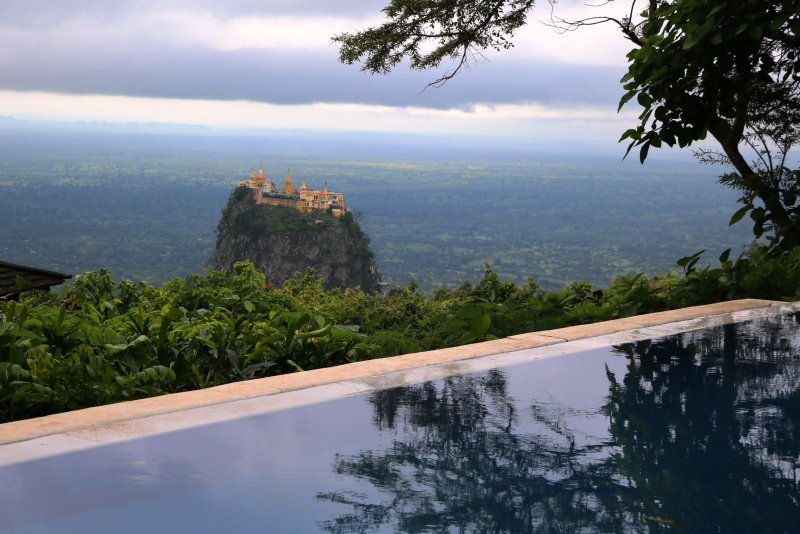 luxury travel in myanmar view from popa resort