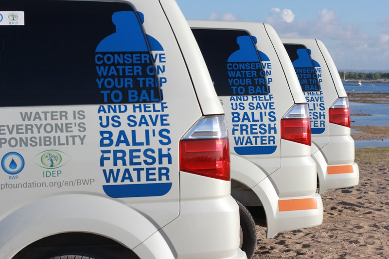 Bali water Program car ads 2